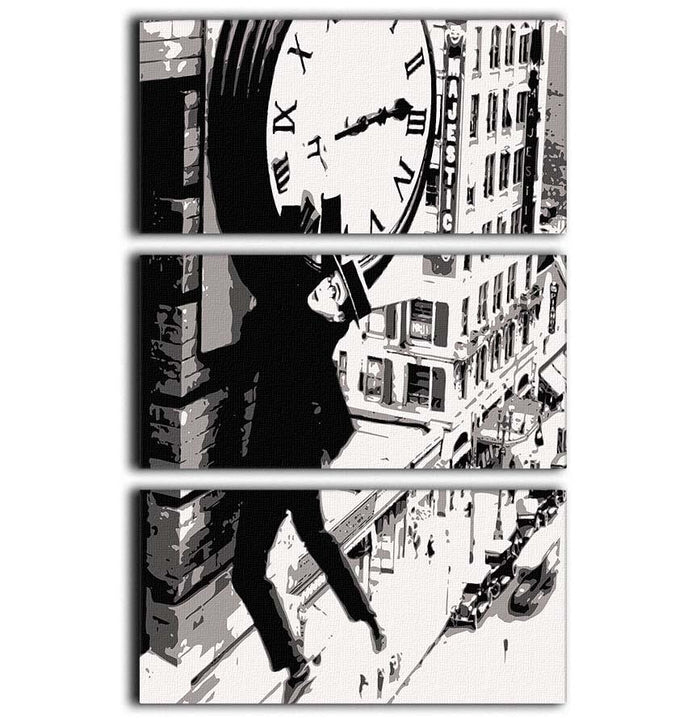 Harold Lloyd Safety Last 3 Split Panel Canvas Print