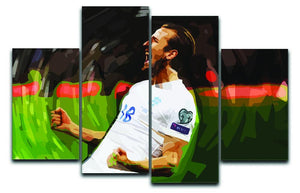 Harry Kane England 4 Split Panel Canvas  - Canvas Art Rocks - 1