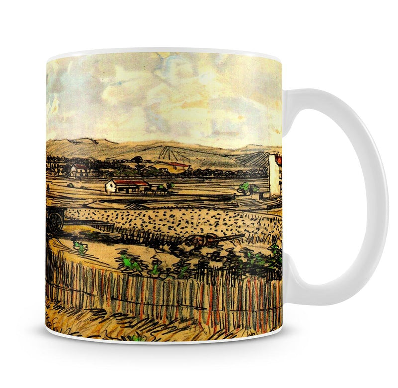 Harvest in Provence at the Left Montmajour by Van Gogh Mug - Canvas Art Rocks - 4