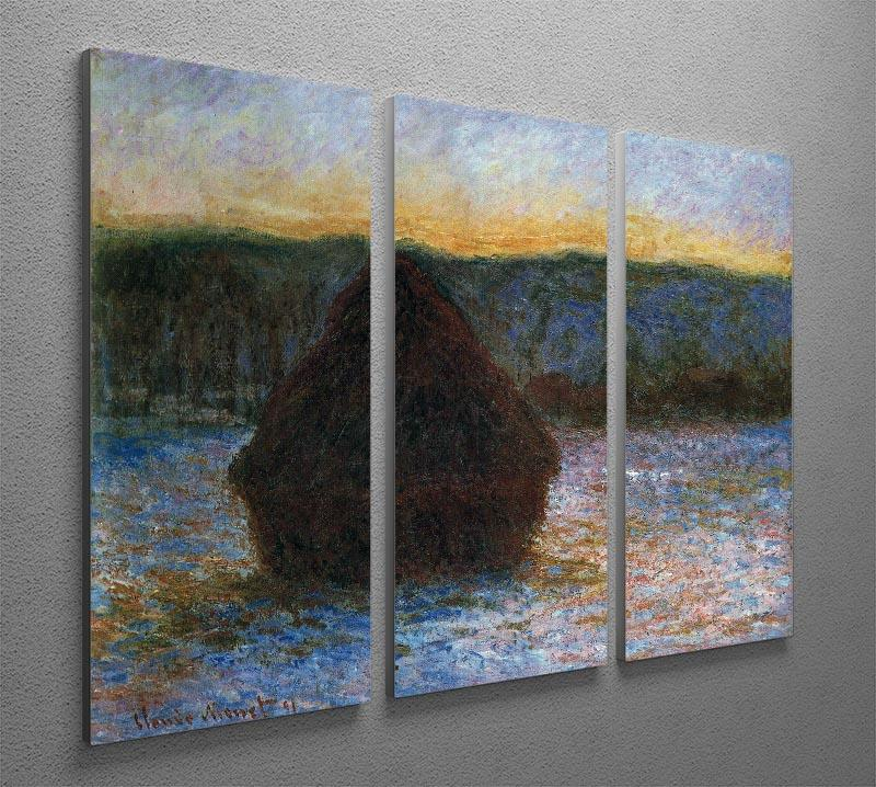 Haylofts thaw sunset by Monet Split Panel Canvas Print - Canvas Art Rocks - 4