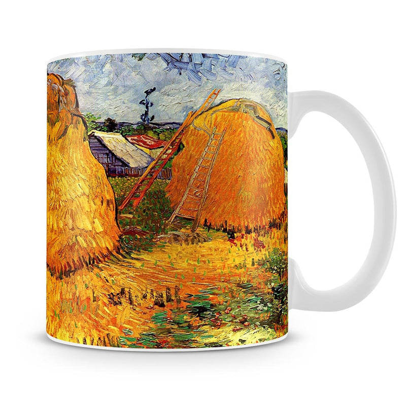 Haystacks in Provence by Van Gogh Mug - Canvas Art Rocks - 4