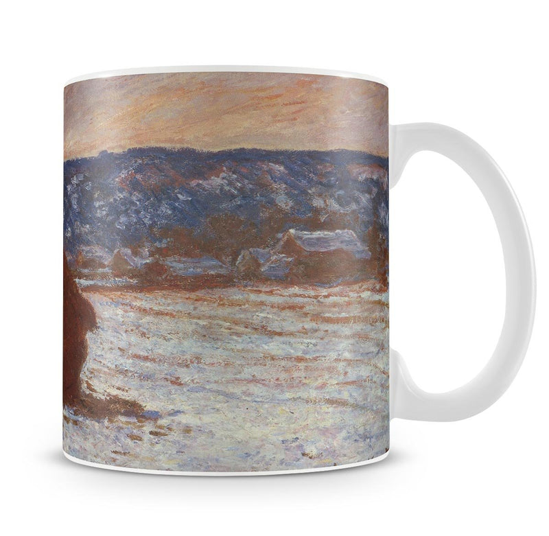 Haystacks snow covered the sky by Monet Mug - Canvas Art Rocks - 4