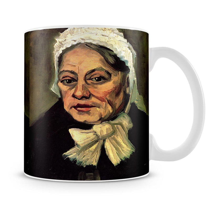 Head of an Old Woman with White Cap The Midwife by Van Gogh Mug - Canvas Art Rocks - 4