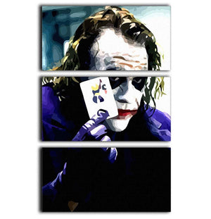 Heath Ledger The Joker 3 Split Panel Canvas Print - Canvas Art Rocks - 1