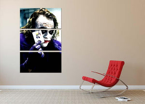 Heath Ledger The Joker 3 Split Panel Canvas Print - Canvas Art Rocks - 2