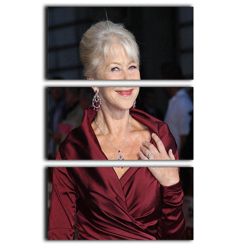 Helen Mirren 3 Split Panel Canvas Print - Canvas Art Rocks - 1