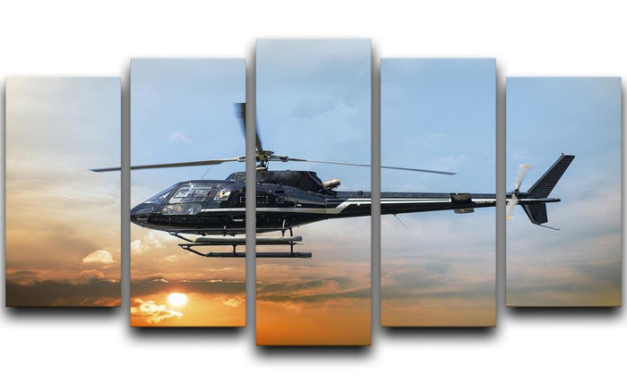 Helicopter for sightseeing 5 Split Panel Canvas