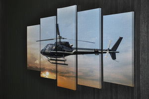 Helicopter for sightseeing 5 Split Panel Canvas  - Canvas Art Rocks - 2