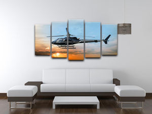 Helicopter for sightseeing 5 Split Panel Canvas  - Canvas Art Rocks - 3
