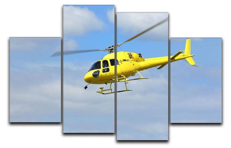 Helicopter rescue 4 Split Panel Canvas  - Canvas Art Rocks - 1