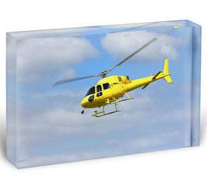 Helicopter rescue Acrylic Block - Canvas Art Rocks - 1