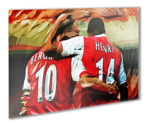 Thierry Henry and Dennis Bergkamp Legends Metal Print - Canvas Art Rocks - 1
