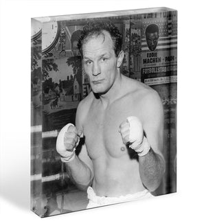 Henry Cooper boxer Acrylic Block - Canvas Art Rocks - 1