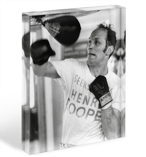 Henry Cooper in training Acrylic Block - Canvas Art Rocks - 1