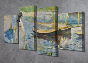 His embankment at Argenteuil by Manet 4 Split Panel Canvas - Canvas Art Rocks - 2