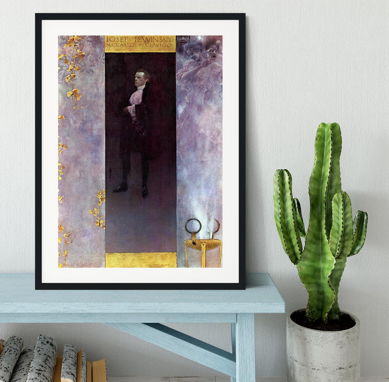 Hofburg actor Josef Lewinsky as Carlos by Klimt Framed Print - Canvas Art Rocks - 1