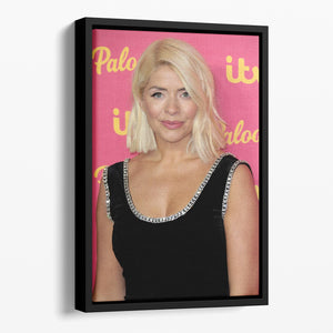 Holly Willoughby Floating Framed Canvas - Canvas Art Rocks - 1