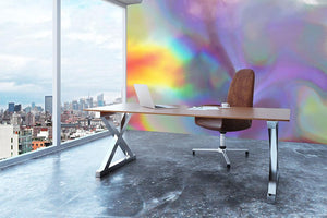 Holographic texture 2 Wall Mural Wallpaper - Canvas Art Rocks - 3