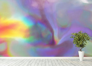 Holographic texture 2 Wall Mural Wallpaper - Canvas Art Rocks - 4