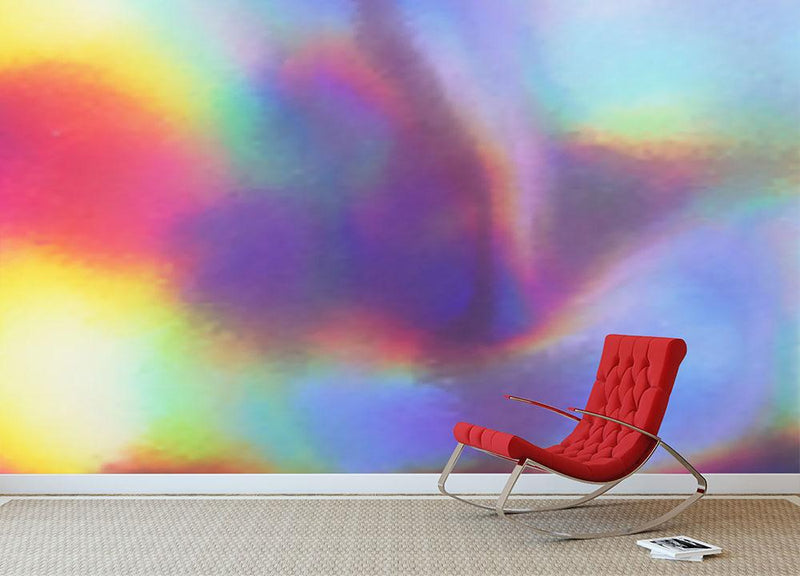 Holographic texture Wall Mural Wallpaper - Canvas Art Rocks - 1