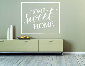 Home Sweet Home Wall Sticker - Canvas Art Rocks - 1