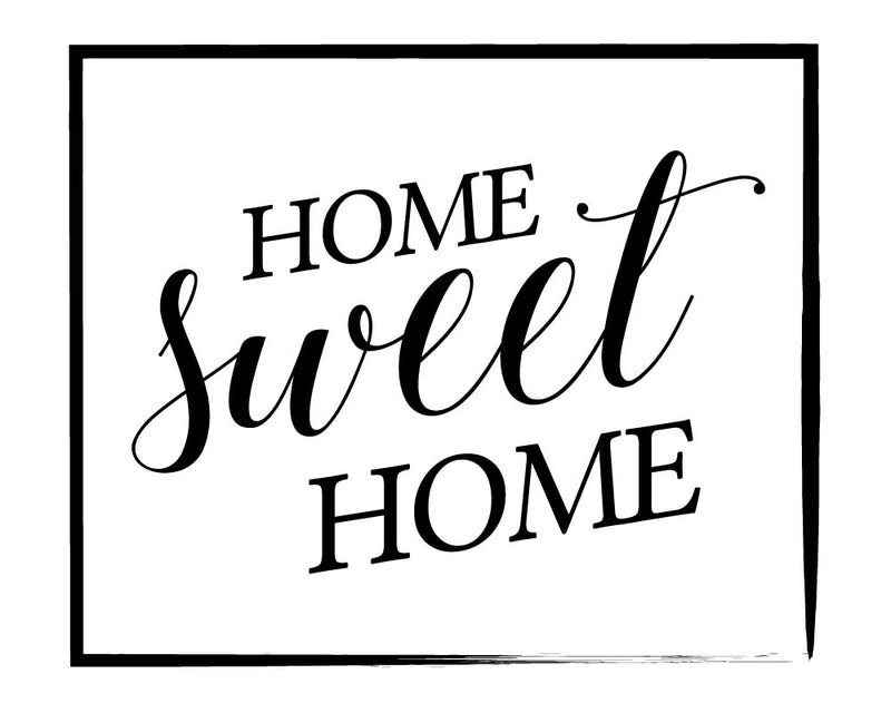 Home Sweet Home Wall Sticker - Canvas Art Rocks - 2