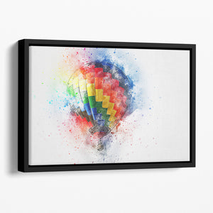 Hot Air Ballon Splash Floating Framed Canvas
