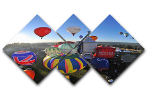 Hot Air Balloons Bristol 4 Square Multi Panel Canvas - Canvas Art Rocks - 1