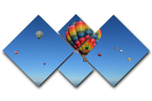 Hot Air Balloons in the sky 4 Square Multi Panel Canvas - Canvas Art Rocks - 1