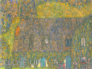 House in Attersee by Klimt 3 Split Panel Canvas Print - Canvas Art Rocks - 3