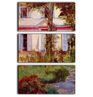 House in Rueil by Edouard Manet 3 Split Panel Canvas Print - Canvas Art Rocks - 1