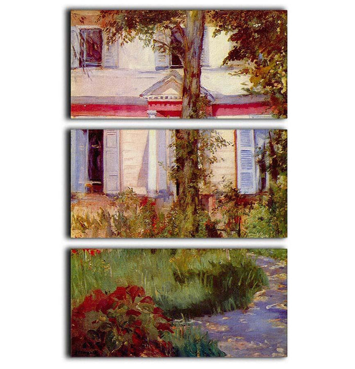 House in Rueil by Edouard Manet 3 Split Panel Canvas Print