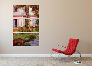 House in Rueil by Edouard Manet 3 Split Panel Canvas Print - Canvas Art Rocks - 2