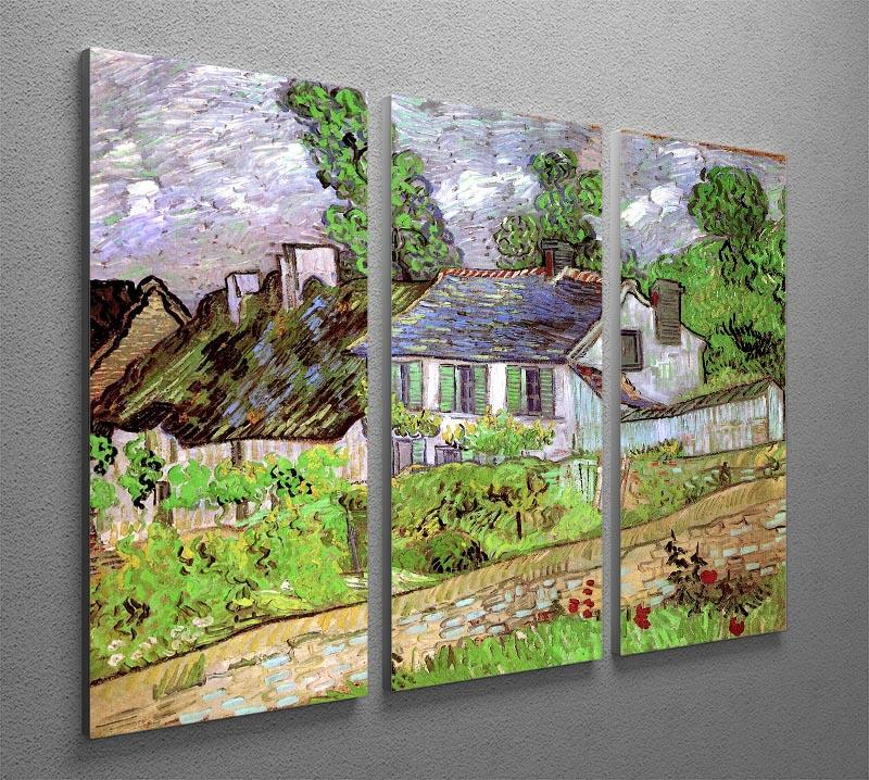 Houses in Auvers 2 by Van Gogh 3 Split Panel Canvas Print - Canvas Art Rocks - 4