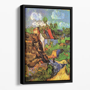 Houses in Auvers by Van Gogh Floating Framed Canvas