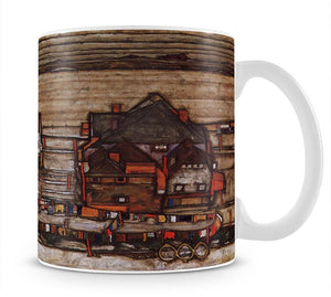 Houses with laundry lines and suburban by Egon Schiele Mug - Canvas Art Rocks - 1