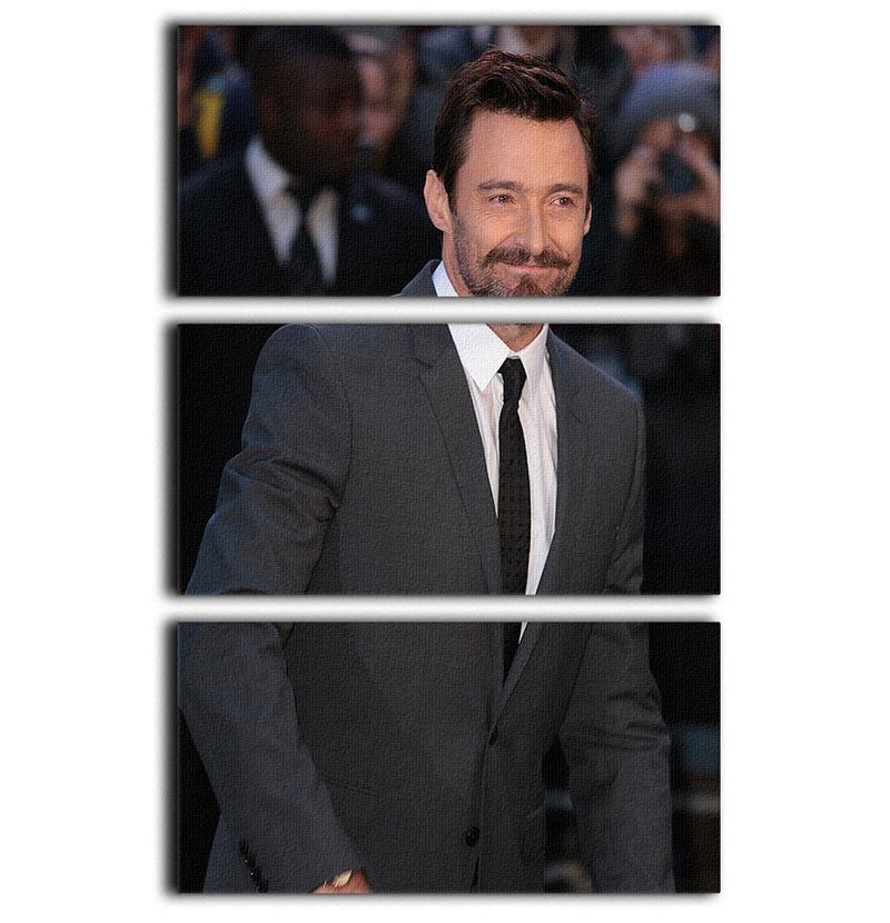 Hugh Jackman 3 Split Panel Canvas Print - Canvas Art Rocks - 1