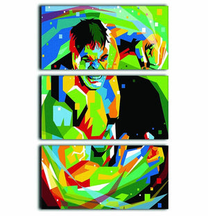 Hulk Pop Art 3 Split Panel Canvas Print - Canvas Art Rocks - 1
