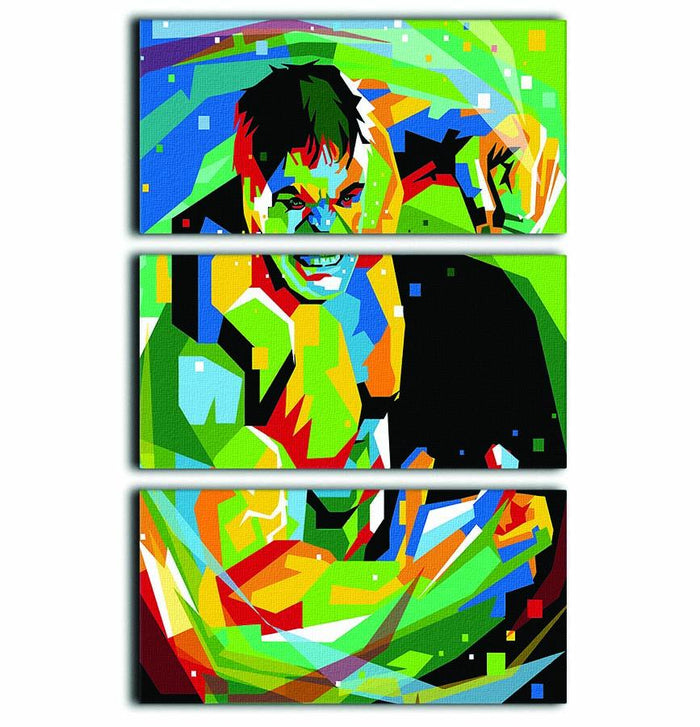 Hulk Pop Art 3 Split Panel Canvas Print