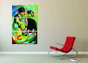 Hulk Pop Art 3 Split Panel Canvas Print - Canvas Art Rocks - 2