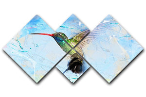 Humming Bird Painting 4 Square Multi Panel Canvas  - Canvas Art Rocks - 1