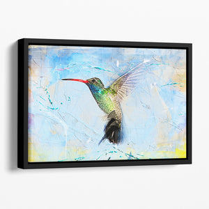 Humming Bird Painting Floating Framed Canvas