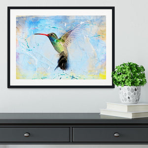 Humming Bird Painting Framed Print - Canvas Art Rocks - 1