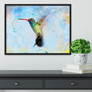 Humming Bird Painting Framed Print - Canvas Art Rocks - 2