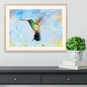 Humming Bird Painting Framed Print - Canvas Art Rocks - 3