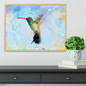 Humming Bird Painting Framed Print - Canvas Art Rocks - 4