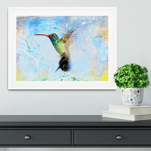 Humming Bird Painting Framed Print - Canvas Art Rocks - 5