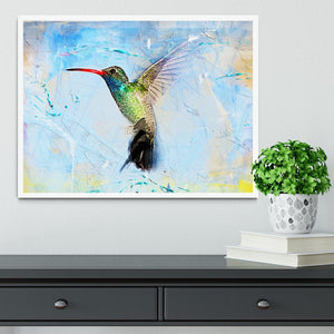 Humming Bird Painting Framed Print - Canvas Art Rocks -6