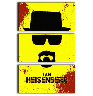 I am Heisenberg 3 Split Panel Canvas Print - Canvas Art Rocks - 1