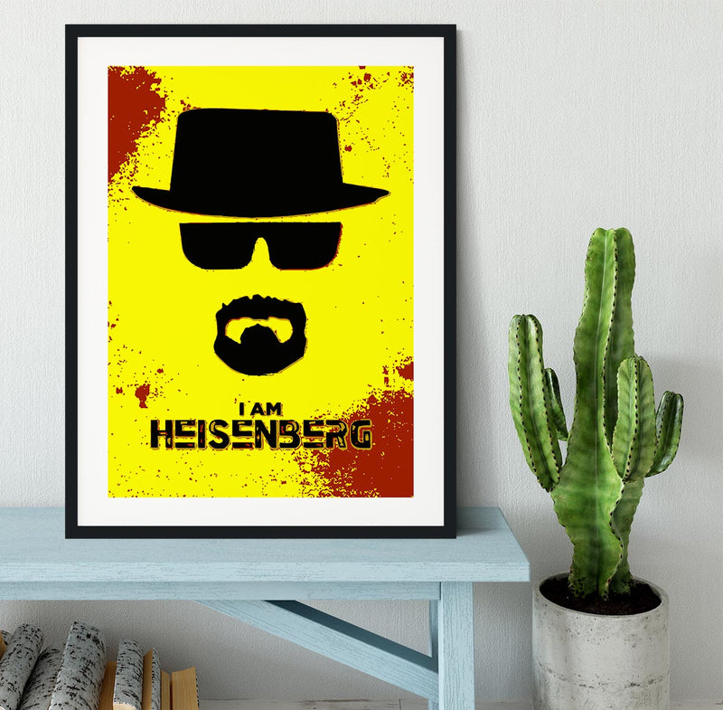 I am Heisenberg Framed Print - Canvas Art Rocks - 1